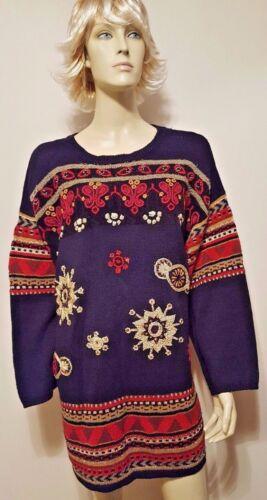 Knitwear Sequin Vintage Carole Gold Nwt Sz Black Beaded M Little Sweater TwxawZp
