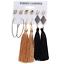 6 Pairs//Set Women Bohemia Long Tassel Fringe Dangle Earrings Stud Jewelry
