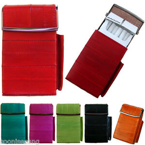 watch 13dc4 f9c18 Details about Genuine Eel Skin Leather Sliding Cigarette Case Wallet  Tobacco Case