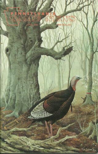 Pennsylvania Game News April 1990 cover by Tom Duran spring turkey