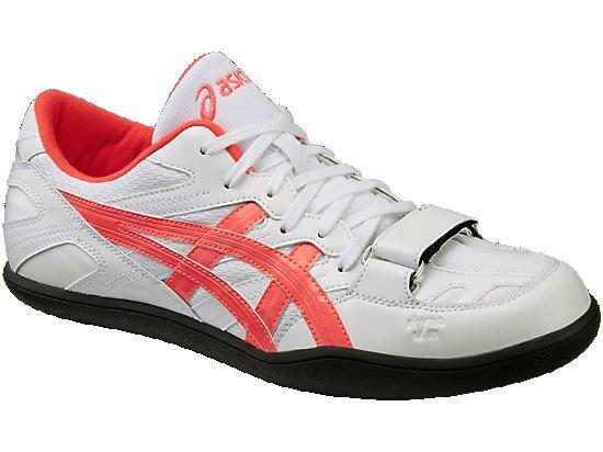 ASICS Throwing Shoes Hammer Discus TFT368 White×Orange japan import(Choose Size)