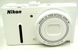 Nikon-Coolpix-P330-12-2MP-Compact-digital-camera-5x-zoom-lens-white-superb