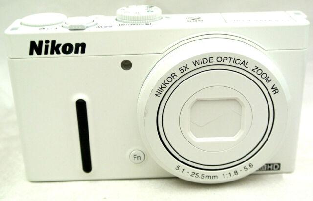 Nikon Coolpix P330 12.2MP Compact digital camera 5x zoom lens *white *superb