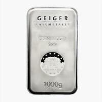 Geiger Edelmetalle Security Line 1 Kilo Silver Bar .999 (New)