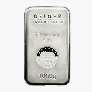 Geiger Edelmetalle Security Line 1 Kilo Silver Bar 999