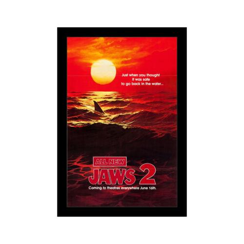 Челюсти 2-11x17 в рамке постер фильма по wallspace