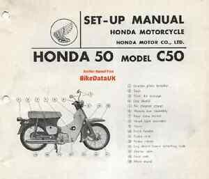 genuine honda c50 1967 1977 factory pdi set up manual c 50 cub rh ebay co uk Honda C90 honda c50 service manual greek