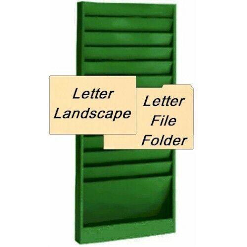 BLACK or 13 Colors Steel Medical Chart Hanging Wall File Holder 12 Pockets