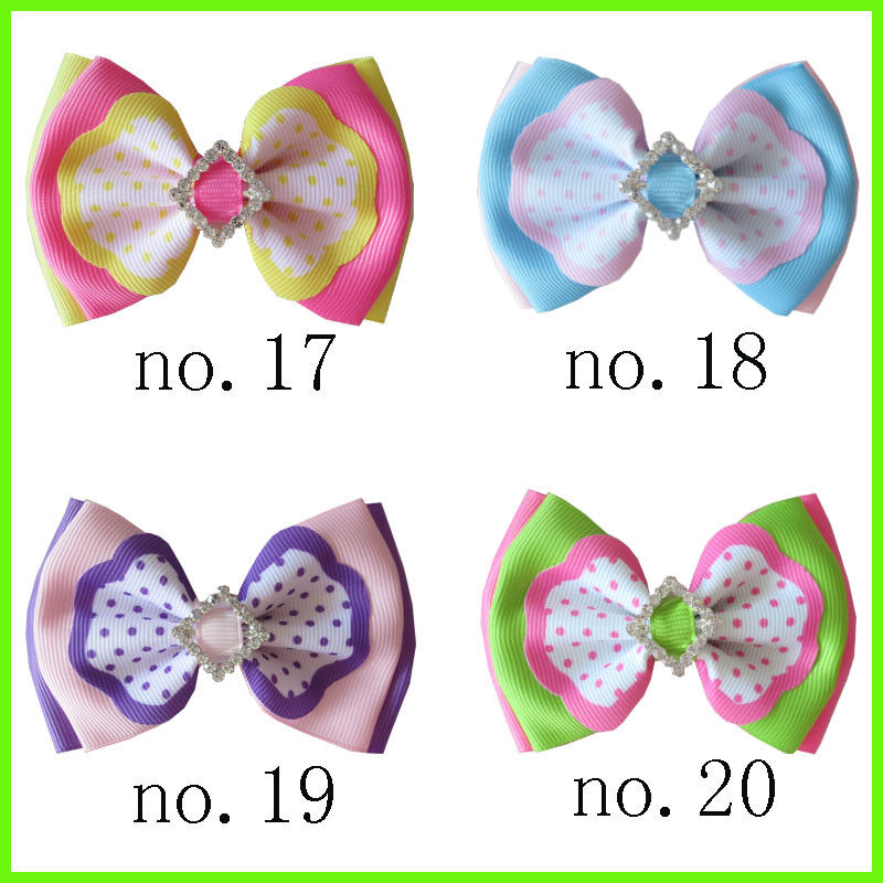 "100 BLESSING Good Girl Boutique 4.5/"" Double Bowknot Hair Bow Clip Accessories"