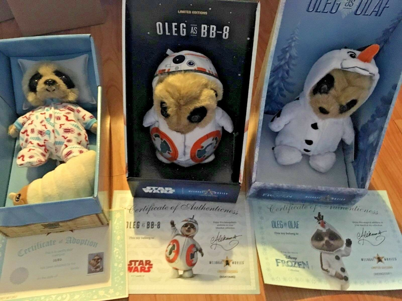 New 3 x Compare the Meerkat Oleg Toys - Olaf Frozen & BB8 Star Wars & Baby Oleg