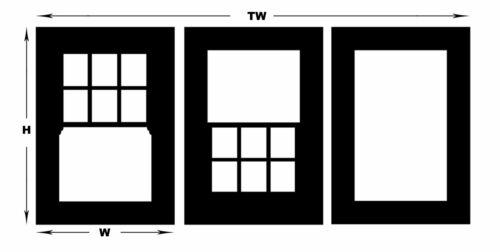 LC07 Laser cut 6 Pane Sash Windows OO scale pk of 6 Smart Models