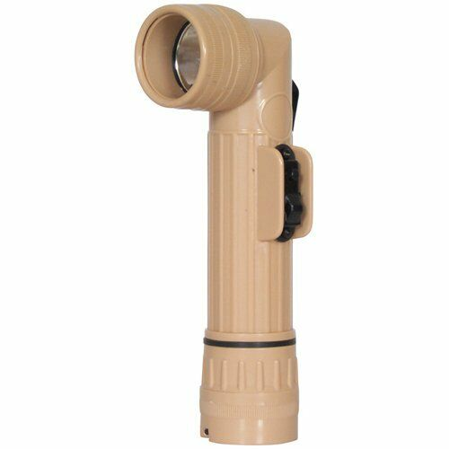 Fox Outdoor Products Anglehead Flashlight with Krypton Bulb, Desert Tan