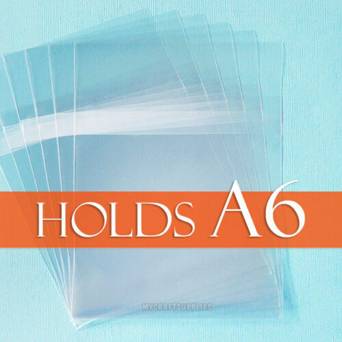 Envelope for A6 Card 100 Clear Cello Bags 4 15//16 x 6 9//16 BODY Adhesive