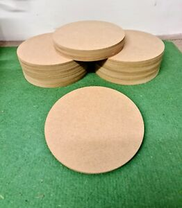 Circle Craft Disk Blank Shape Cake Drum Wooden MDF 100mm - 5 Thickness Options