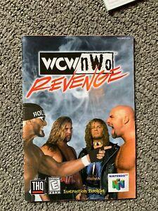 WCW NWO Revenge Wrestling N64 Nintendo 64 Instruction Manual Only Booklet Book