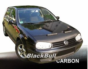 Haubenbra-fuer-VW-Golf-4-Car-Bra-Steinschlagschutz-Tuning-amp-Styling-CARBON