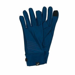 Details about Asics Basic Performance Blue Polyester Mens Training Gloves 134927 8130 A187C