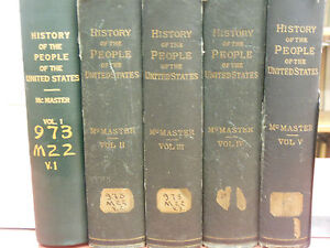 History-Of-The-People-of-the-United-States-5-Vol-1895-McMaster-Books