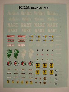 DECALS-KIT-1-43-GENERICA-N-4-STEMMI-ALFA-FERRARI-BMW-PORSCHE-NEW