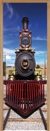 Sticker pour porte plane Locomotive 83x204cm réf 124