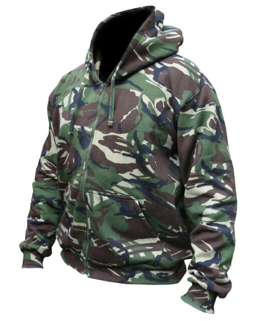 ADULS FULL ZIP DPM CAMO CAMOUFLAGE HOODIE ARMY HOODY FISHING HUNTING