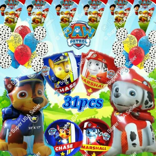 PARTY SETS PAW PATROL BALLOONS PARTY SUPPLIES Dogs Decor Shower Birthday lot Q