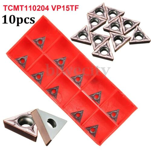 10Pcs TCMT110204 VP15TF TCMT21.51 VP15TF CNC Carbide Insert Blade Lathe Blade