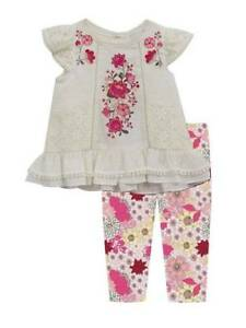 Rare Editions Toddler Girl/'s Valentine Cupcake Tunic /& Legging Set-Size-2T 3T 4T