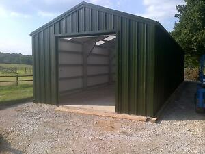 Tractor shed steel building steel framed buildings uk for Steel frame barns for sale