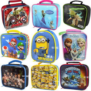 Official-Licensed-Character-Insulated-Lunch-Bag-School-Boys-Girls-Children-Gifts