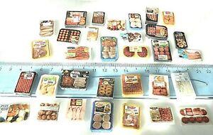 Lot-Barquettes-Aliment-Factice-Maison-Poupee-Vitrine-Doll-House-Food-miniature