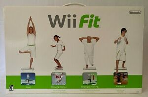 Nintendo Wii Fit Complete Bundle - Includes Balance Board w/ Risers and Game