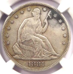 1881-Seated-Liberty-Half-Dollar-50C-Certified-NGC-VF30-Rare-Date-Coin