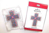 Hallmark Christmas Ornament La Fe Y El Amor Spanish Cross Metal 2014