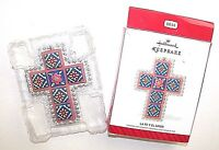 Hallmark Christmas Ornament La Fe Y El Amor Spanish Cross Metal 2014