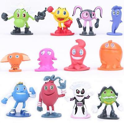 Set of 12 PAC-MAN and the Ghostly Adventures PVC Figures Kids Gaming Gift