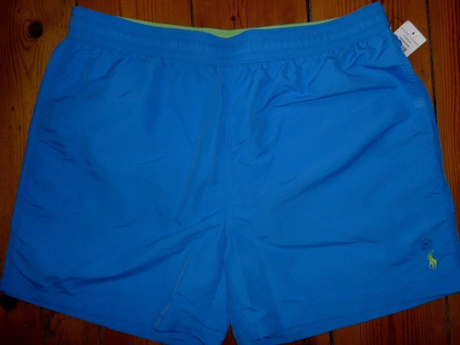 MENS RALPH LAUREN SWIM SHORTS HAWAIIAN BOXER JEWEL blueE XXL 2XL WAIST 38 - 40IN