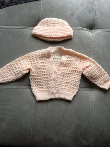 Baby Hand Knitted Jumper and Hat Set