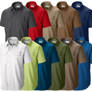 """Nouveau Homme Columbia Silver Ridge """"ventilé Omni-wick Shirt à Manches Courtes-afficher Le Titre D'origine"""