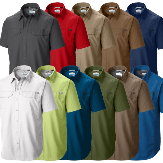 "New Mens Columbia /""Silver Ridge/"" Vented Omni-Wick Short Sleeve Shirt"