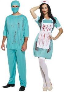 Fancy Dress Halloween Zombie Nurse Doctor Costume