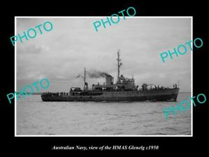 OLD-LARGE-HISTORIC-PHOTO-OF-AUSTRALIAN-NAVY-SHIP-HMAS-GLENELG-c1950