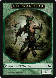 Elf Warrior Token x4 Magic the Gathering