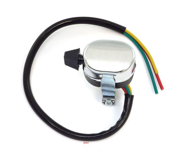 Universal 3 Way Handlebar Switch - Blinker Turn Signal Custom Vintage Motorcycle
