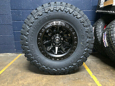 "Jeep Wrangler Rims And Tire Packages >> 17x9 D694 Fuel Covert Black 35"" Toyo MT Wheels Rim Tires 5x5 Jeep Wrangler JK JL 