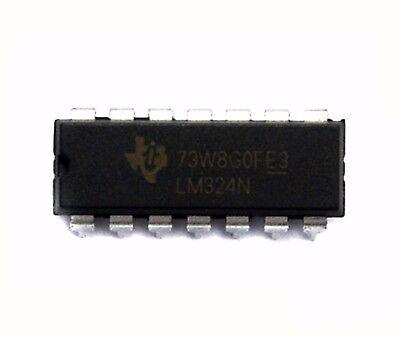 10pc DIP IC LM324N LM324 Quad OP amp RoHS TI ST | eBay