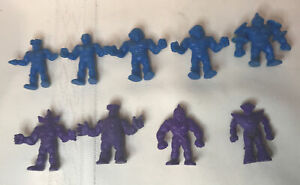 1980-s-Vintage-Lot-of-9-BLUE-Purple-Color-M-U-S-C-L-E-Men-Figures-Mattel