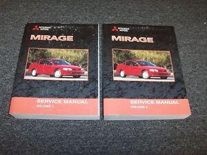 2001 mitsubishi mirage shop service repair manual book set de es ls rh ebay com