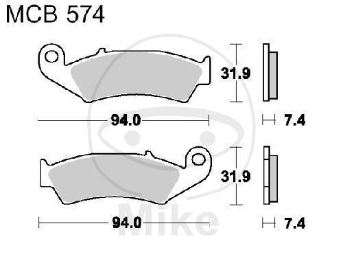 TRW Lucas frein standard mcb574
