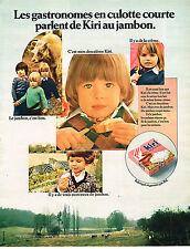 PUBLICITE ADVERTISING 014   1970   KIRI  fromage au jambon
